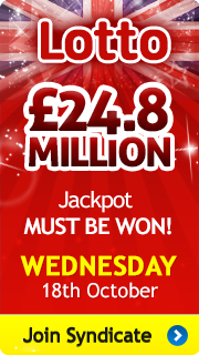 Lotto Jackpot must be won - Wednesday 18th October