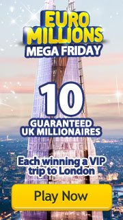 EuroMillions Mega Friday - 29th May 2015 - 10 UK Millionaires Each winning a VIP trip to London!