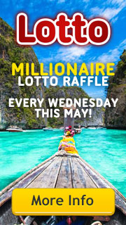 Millionaire Lotto Raffle draws - Every Wednesday in May!