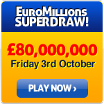 Euromillions Superdraw - Friday 3rd October