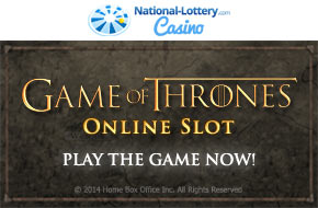 Play Game of Thrones now at National-Lottery.com Casino